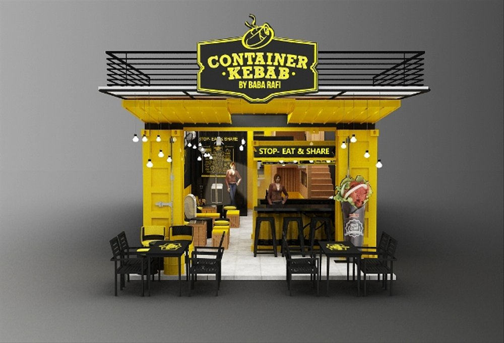 Container Kebab Cafe Babarafi